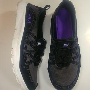 Fila  Purple & Black Slip On Sneakers Size 10
